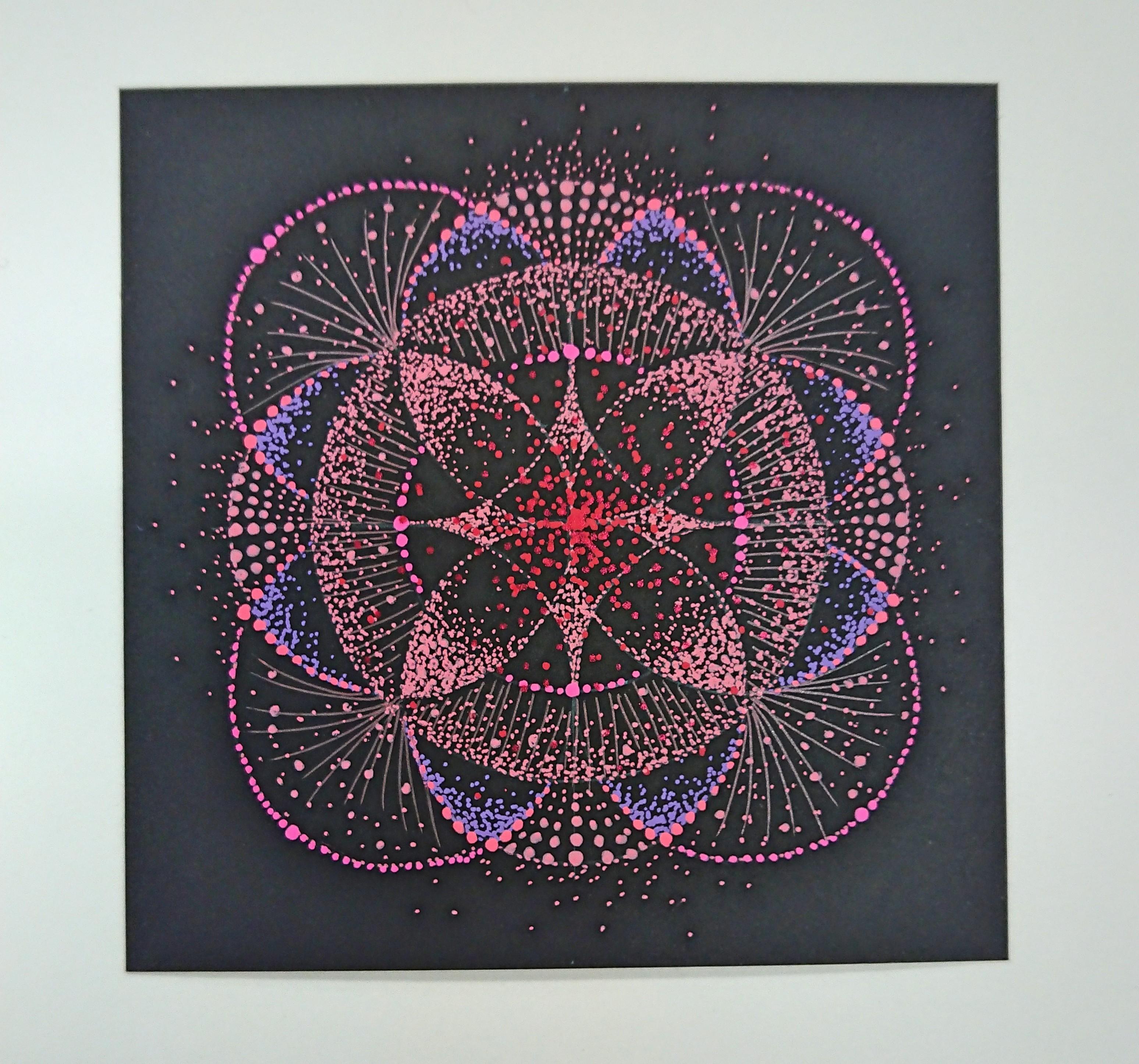 第1チャクラ瞑想をして赤の点描曼荼羅を描きました!
