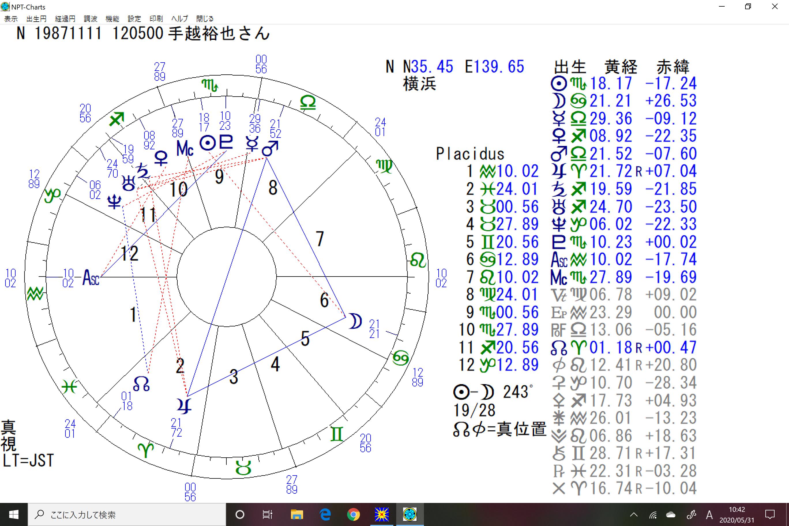 占星術リーディング手越祐也さん